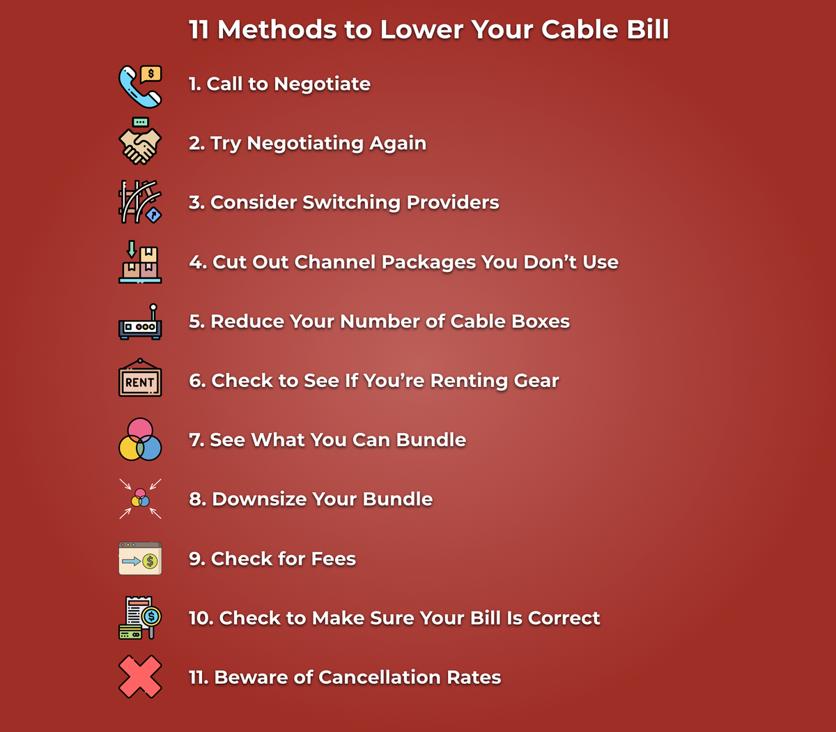 11 Methods to Lower Your Cable Bill